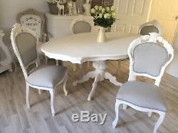 Shabby Chic Table And Chairs French Louis Vintage Dining Table & 4 Chairs