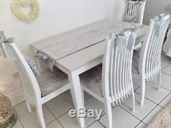 Shabby Chic Table And Chairs Kitchen Dining