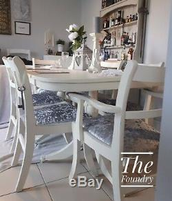 Shabby Chic Table and Chairs Dining Kitchen Farmhouse French Cream