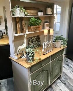 Shabby Chic Vintage Dresser In Annie Sloan Country Grey And Olive