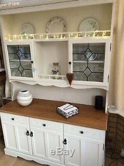 Shabby Chic Welsh Dresser Painted using Annie Sloan Cream Paint