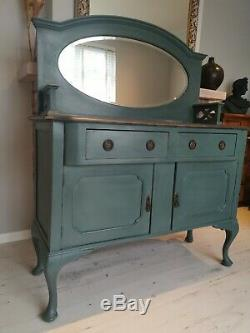 Shabby Chic wooden sideboard drawers with mirror (10 miles free delivery)