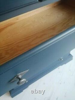 Shabby chic tall wooden chest of drawers (10 miles free delivery)
