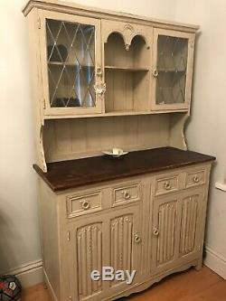 Shabby chic vintage dresser painted in Laura Ashley duck sell