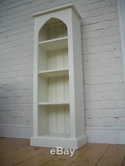 Slim/ Narrow Bookcase. Painted Gothic Style/ Shabby Chic. +++ FREE DELIVERY