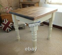 Small Country Rustic Farmhouse Style Kitchen Dining Table