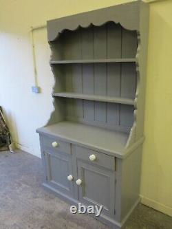 Solid Farmhouse thick Pine Dresser Grey shabby chic delivery
