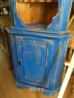 Solid Heavy Pine Rustic Painted Distressed Corner Dresser Shabby Chic