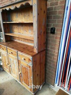 Solid Pine Camelot Welsh Dresser Rustic Farmhouse Shabby Chic Style