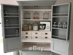 Solid Pine Country Shabby Chic Farmhouse Housekeepers Pantry Larder Cupboard