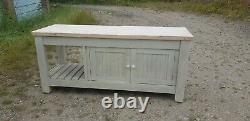 Solid Pine Kitchen Island Double Sided HANDMADE Shabby Chic