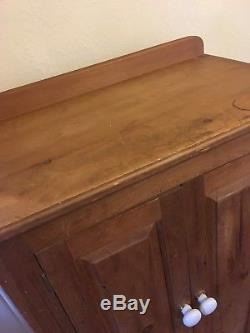 Solid Pine Wooden Cupboard Rustic Country Kitchen Storage Shabby Chic