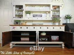 Stunning Large Old Charm Sideboard Cupboard Cabinet Dresser Drawers Shabby Chic