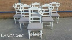 Stunning Shabby Chic 6ft x 3ft Farmhouse Table and chairs