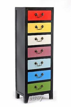 Tall Chest of Drawers Cabinet Storage Cupboard Retro Vintage Rustic Shabby Chic