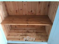 Tall Kitchen Pantry Larder Cupboard Storage Painted Solid Wood