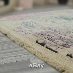 Trend Rug Shabby Chic Style Multicolour Quality Shine Bright Purple Pink Green