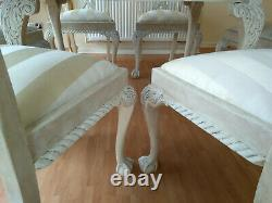 UNIQUE French Antique Shabby Chic Dining Table & Six Chairs