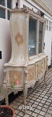 Venetian Antique Rococo Style Glass Display/Kitchen/Dining/Dresser Cabinet Unit