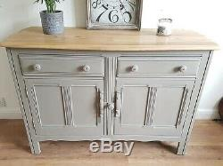 Vintage Ercol Sideboard Cupboard Dresser Vintage Grey Painted Shabby Chic