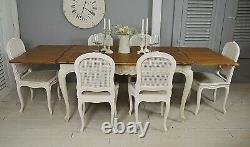 Vintage French Shabby Chic 2 Tone Extending Dining Set Free UK Delivery