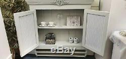 Vintage Painted French Wall Cabinet Cupboard Shabby Chic CAN ARRANGE COURIER