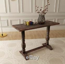 Vintage Rustic Console Table Solid Wood Furniture Side Hall Shabby Chic Hallway