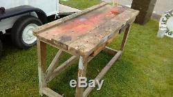 Vintage antique workbench kitchen island industrial shabby chic. Great colour