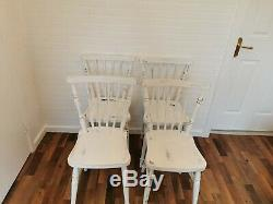 Vintage retro 4 dining chairs shabby Chic traditional Farmhouse Country party