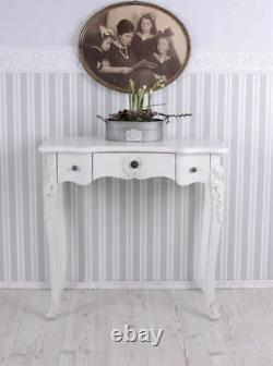 Wall Table console antique style shabby white lady desk dressing table vintage