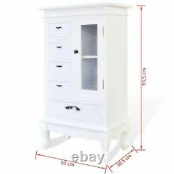 White French Display Cabinet Shabby Chic Storage Unit Glass Cupboard Country New