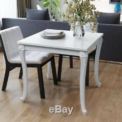 White Kitchen Breakfast Table Dining Room Shabby Chic Gloss Ornate French Small