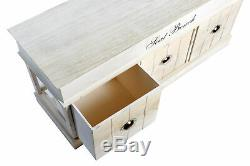 White Wooden Storage Bench Box Drawers Baskets Seating Unit Hallway Entryway