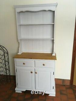 White shabby chic Country Kitchen Welsh Dresser