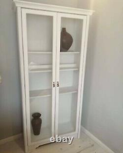 White tall bookcase display cabinet (10 miles free delivery)