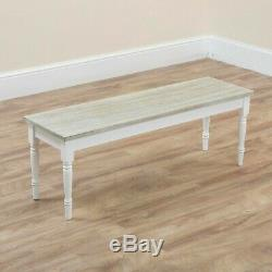 Wooden Dining Table Chairs Bench Rustic Shabby Chic Grey White Kitchen 4 6 Seat