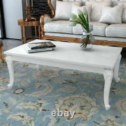 Wooden High Gloss White Dining Table Coffee Table Shabby Chic Kitchen Table New