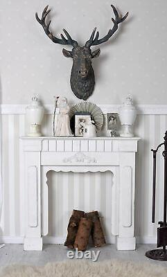 Wooden fire surround chimney piece shabby chic Fireplace suite new Wood-Burning