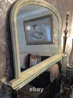 X Large CREAM Arched Top Mirror Stunning Save ££s Insured in Transit