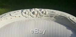 X2 Large Shabby Chic Vintage White French Louis Arm Chairs